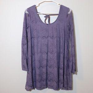 Altar'd State lavender lace shift dress